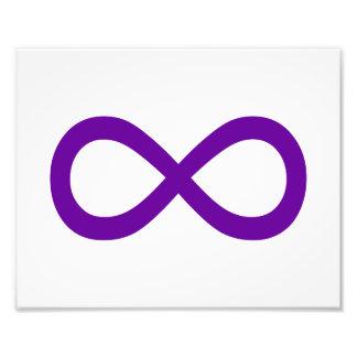 Purple Infinity Symbol Photo Print