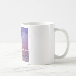Purple Inspirational rainbow & stars quote Coffee Mug