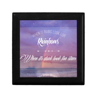 Purple Inspirational rainbow & stars quote Gift Box