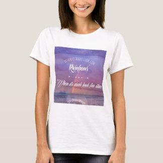 Purple Inspirational rainbow & stars quote T-Shirt