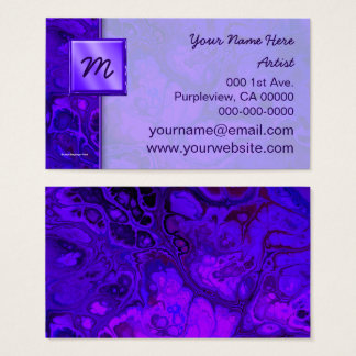 Purple Intensity Abstract Business Card