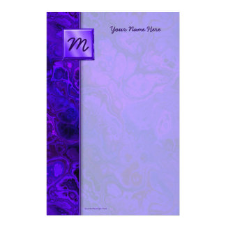 Purple Intensity Abstract Personalized Stationery