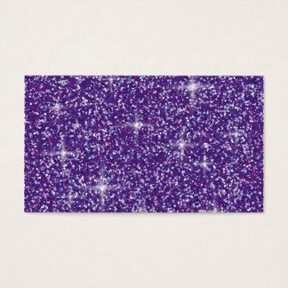 Purple iridescent glitter business card