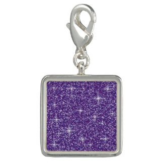 Purple iridescent glitter charm