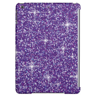 Purple iridescent glitter cover for iPad air