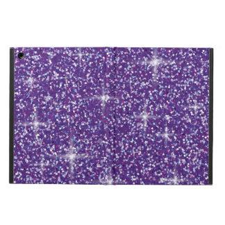 Purple iridescent glitter iPad air cases