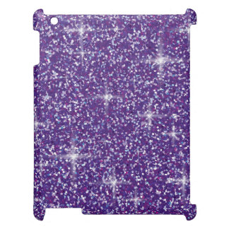 Purple iridescent glitter iPad cases