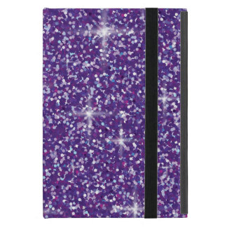 Purple iridescent glitter iPad mini cover