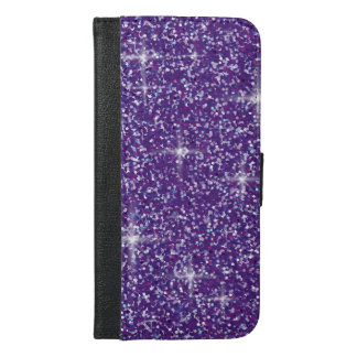 Purple iridescent glitter iPhone 6/6s plus wallet case