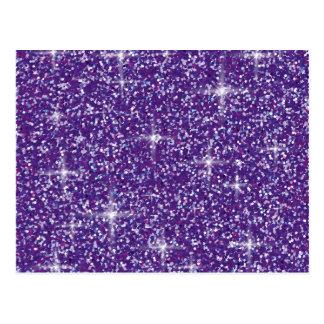 Purple iridescent glitter postcard