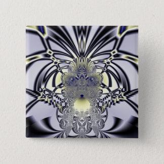 Purple Iris 2 Inch Square Button