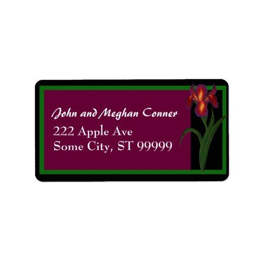 Purple Iris Address Lable Label