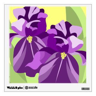 Purple Iris Art Wall Sticker