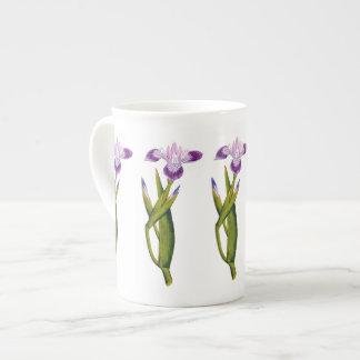 Purple Iris Botanical Bone China Mug
