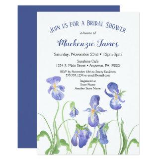 Purple Iris Bridal Shower Invitation Spring Floral