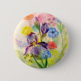 'Purple Iris' Button