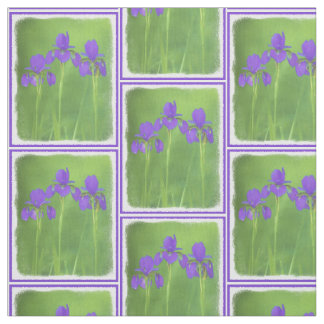 Purple Iris Fabric