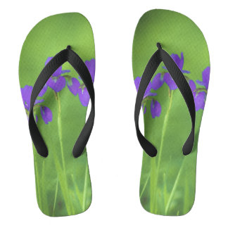 Purple Iris Flip Flops