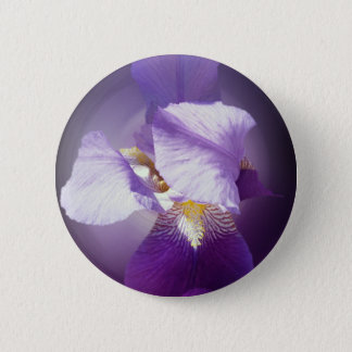 purple iris flower 2 inch round button