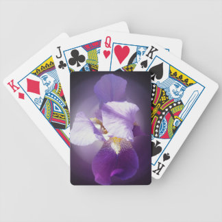 purple iris flower bicycle playing cards