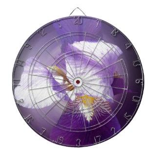 purple iris flower dartboard