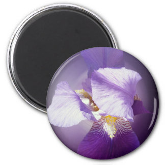purple iris flower magnet