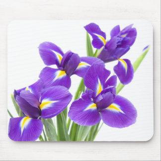 purple iris flower mouse pad
