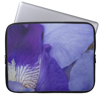Purple Iris Flower PhotoNeoprene Laptop Sleeve 15""