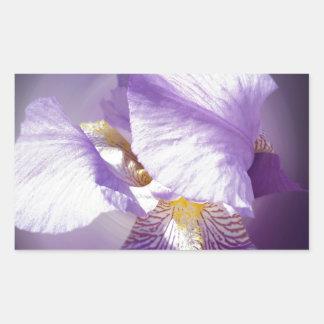 purple iris flower sticker