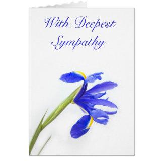 Purple Iris Flower Sympathy Card