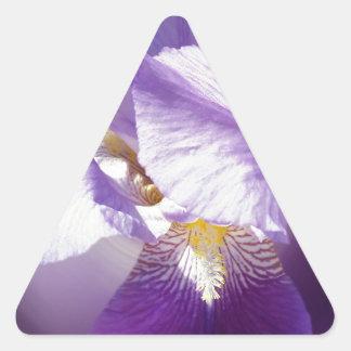 purple iris flower triangle sticker