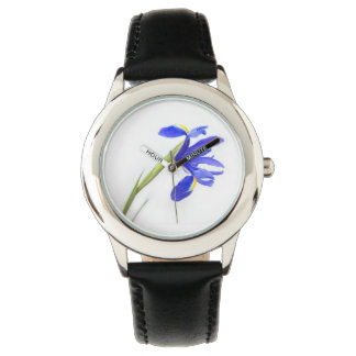 Purple Iris Flower Watch