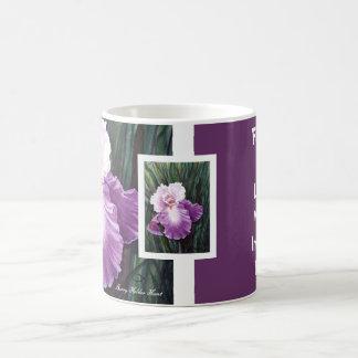 Purple Iris Friendship Mug