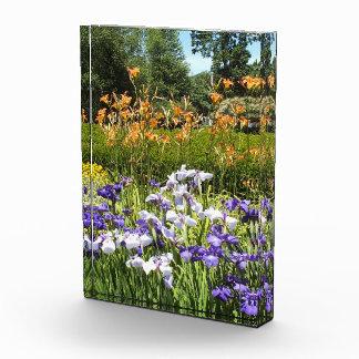 Purple Iris Garden Acrylic Photo Block