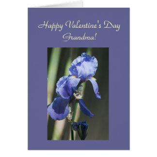 Purple Iris Grandma Template Card
