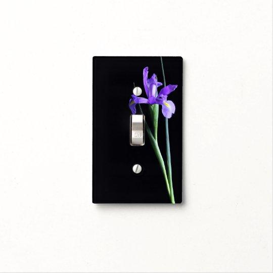 Purple Iris Light Switch Cover