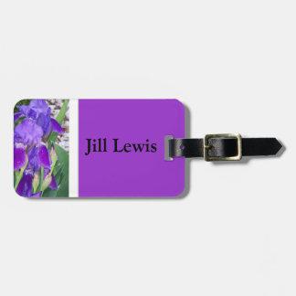 Purple Iris Luggage Tag