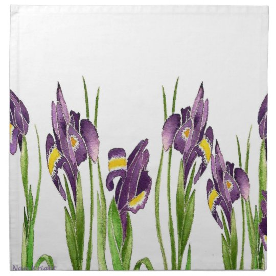 Purple Iris Printed Napkins