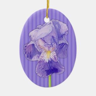 Purple Iris purple Ornament