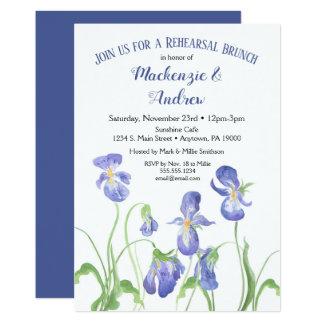 Purple Iris Rehearsal Brunch Invitation