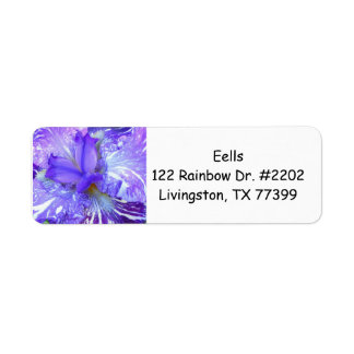 Purple Iris Return Address Avery Label Return Address Label