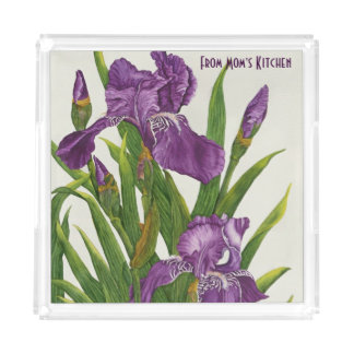 Purple Iris - Serving Tray