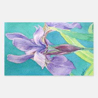 Purple Iris Sticker