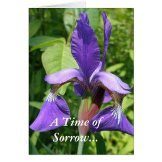 Purple Iris Sympathy Card