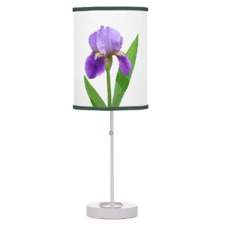 Purple Iris Table Lamp