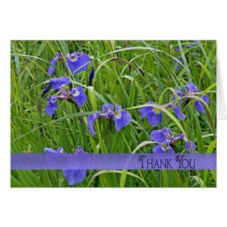 Purple Iris Thank You Card