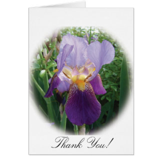 Purple Iris Thank You Note Card
