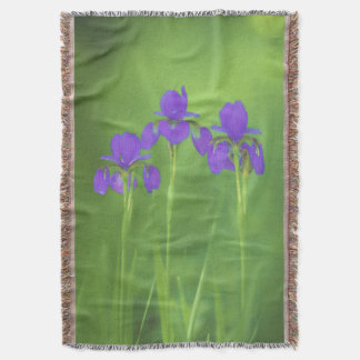 Purple Iris Throw