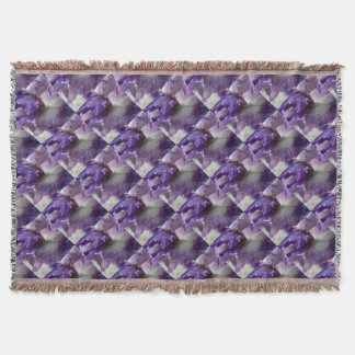 Purple Iris Throw Blanket