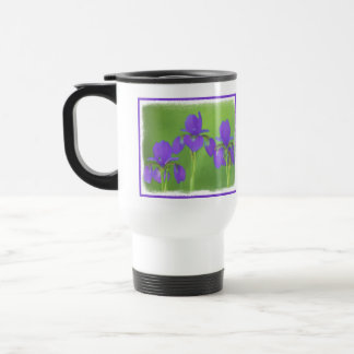 Purple Iris Travel Mug